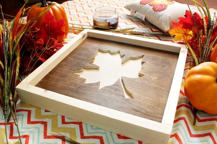 DIY fall leaf sign by Woodshop Diaries on Pretty Handy Girl