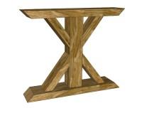 How to Build a Chunky X Farmhouse Table - Pretty Handy Girl