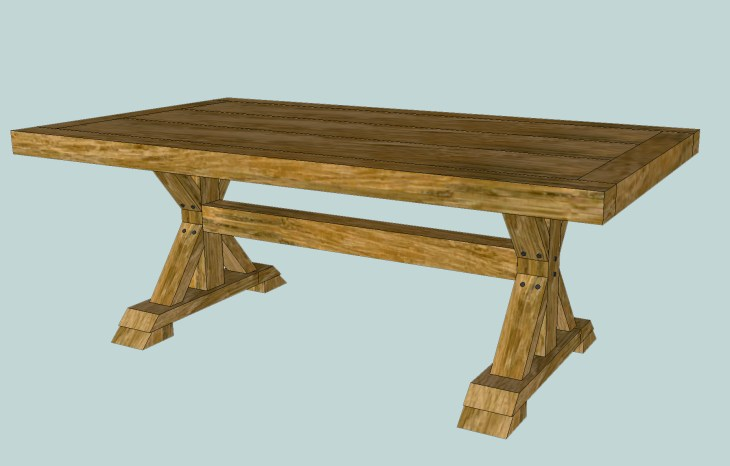 Cool How To Build A Chunky X Farmhouse Table Pretty Handy Girl Download Free Architecture Designs Xaembritishbridgeorg