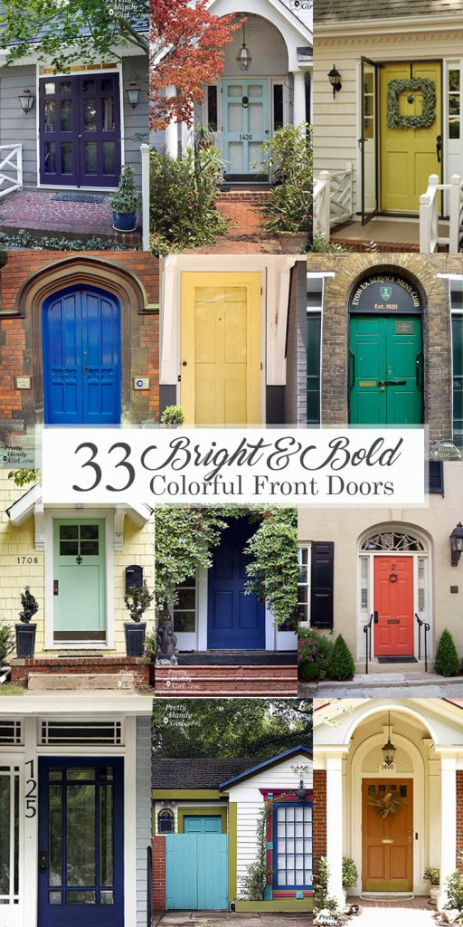 Bright and Bold Colorful Front Doors