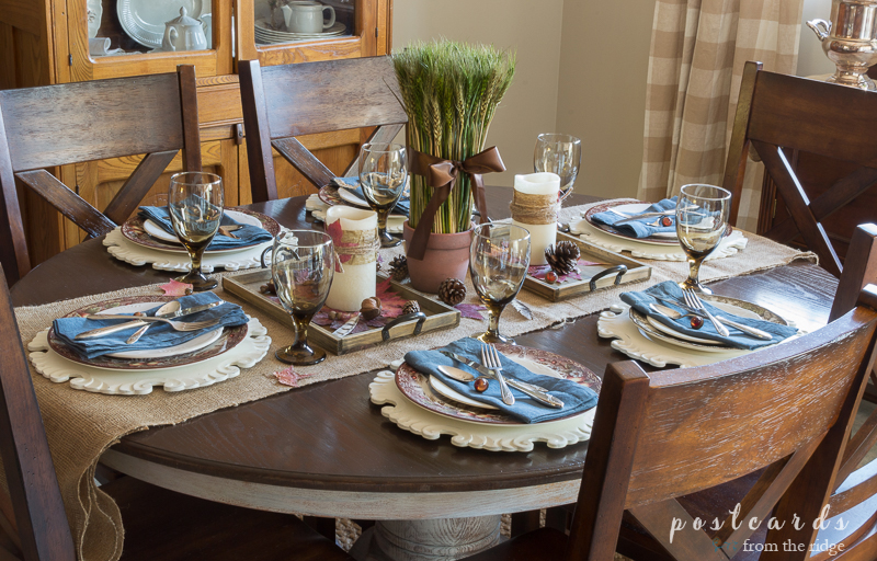 Natural Rustic Thanksgiving Tablescape-PostcardsFromTheRidge