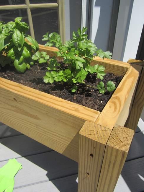 Scrap Wood Plater Herb Garden Box