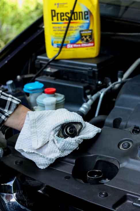 Remove radiator cap