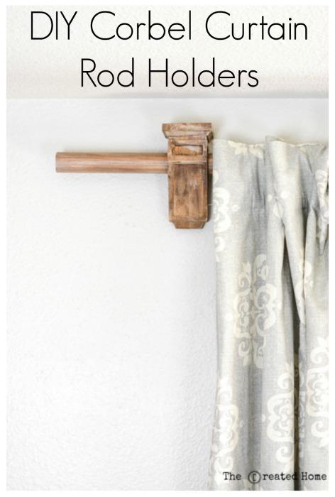 diy corbel curtain rod holders pretty