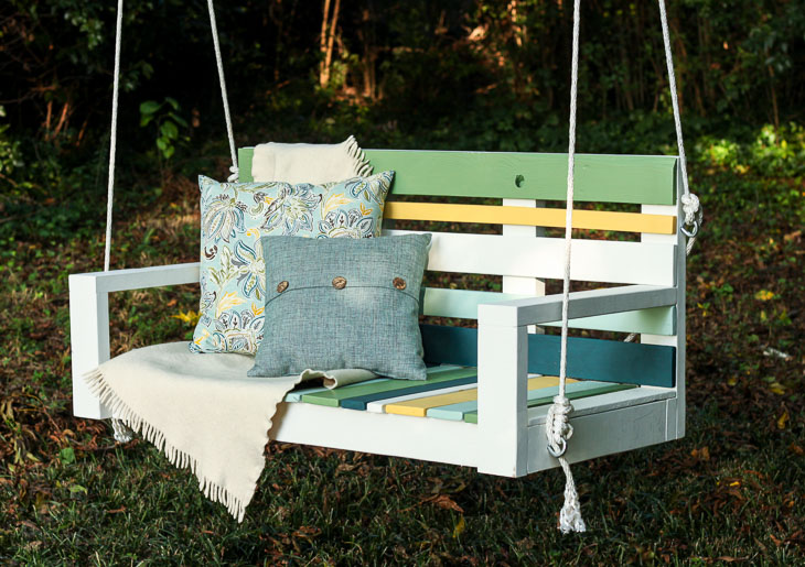 Building Porch Swing with Pallet Wood by Pretty Handy Girl