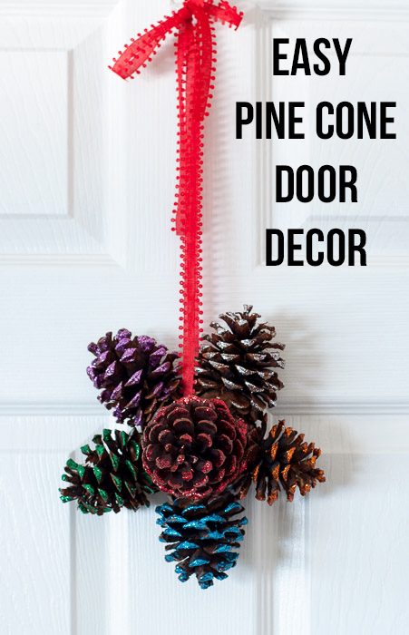 Add sparkly decor to your door this Christmas with this gorgeous door hanger