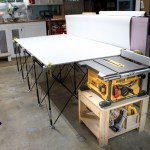 Table Saw Stand and Collapsible Out Feed Work Table