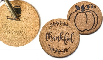 Wood Burning Cork Trivets - Great Gift Idea!!!