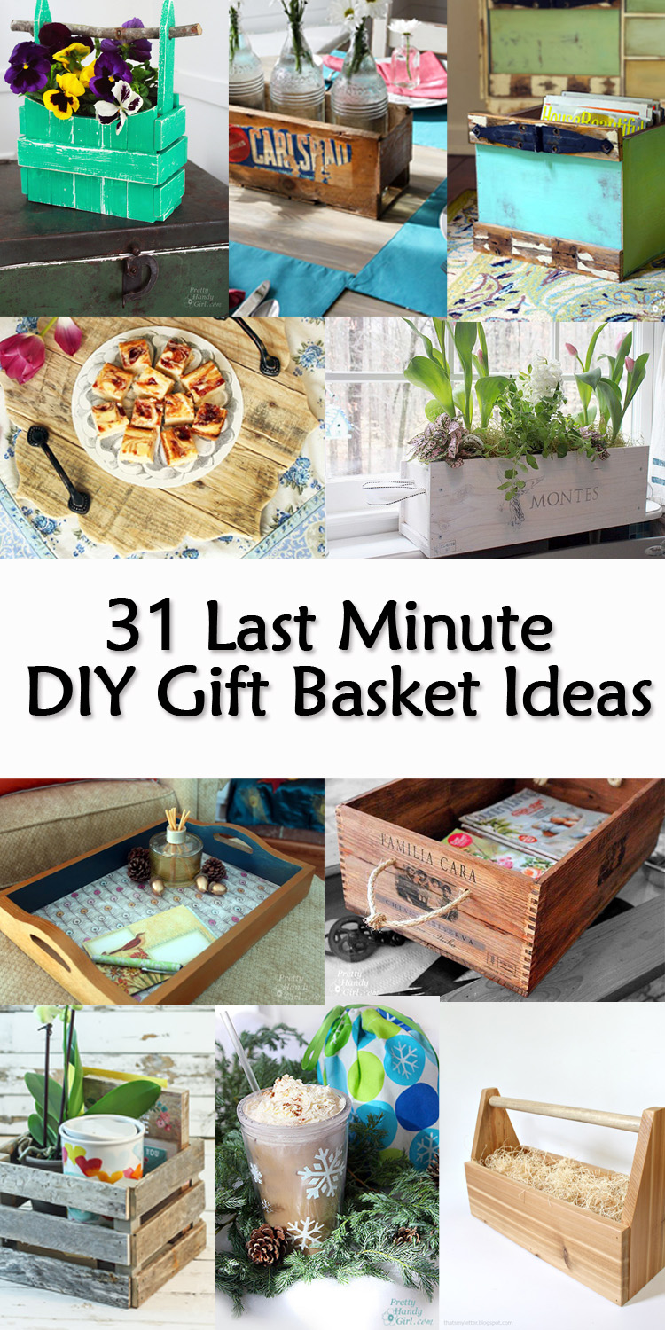 31 Last Minute DIY Gift Basket Ideas - Gift baskets can take many forms. They can be a crate, a basket, tray, or anything that can hold things can become a gift basket. I love giving gift baskets because you can use the