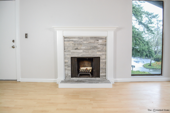 how to refinish a fireplace with tile
