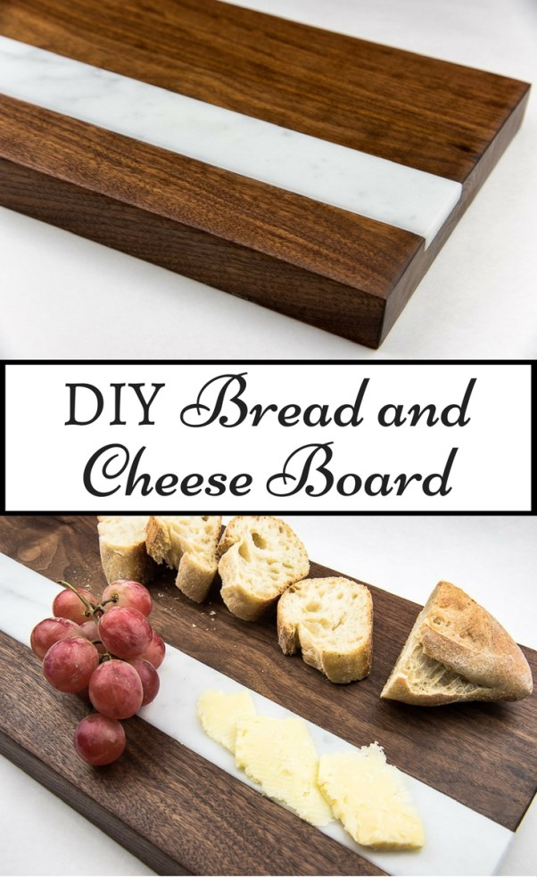 This bread and cheese board is simple to make, but looks like it cost a fortune! Perfect for entertaining!