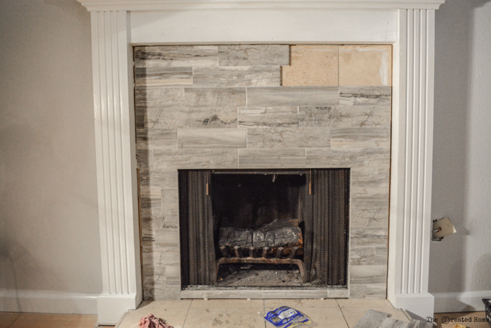 tiling over existing tile - How to Tile a Fireplace