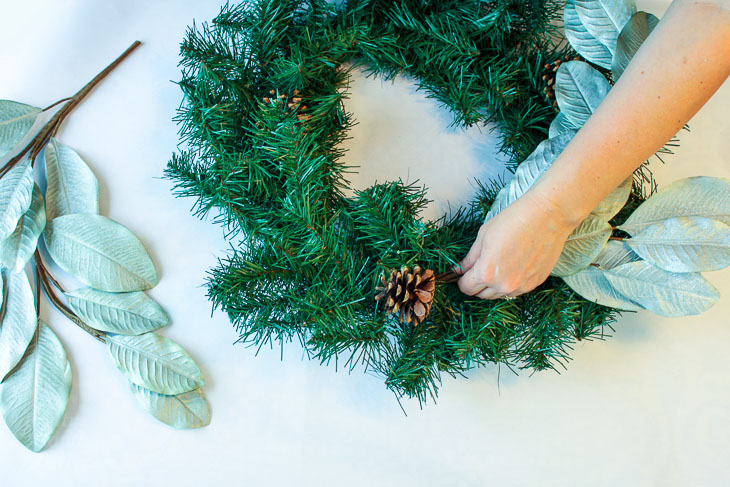 Make an Elegant Holiday Wreath for Less than $20 - Pretty Handy Girl