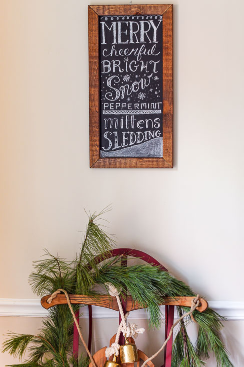 Free Winter Chalkboard Word Art!