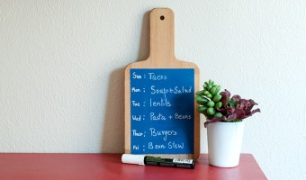 A Quick Cutting Board Makeover for Meal Planning