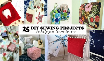 diy sewing projects to help you learn to sew social media image