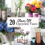 20 clever diy upcycled vases social media image