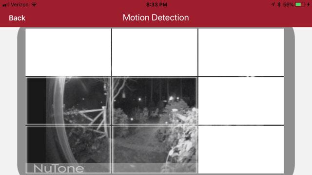 set motion areas