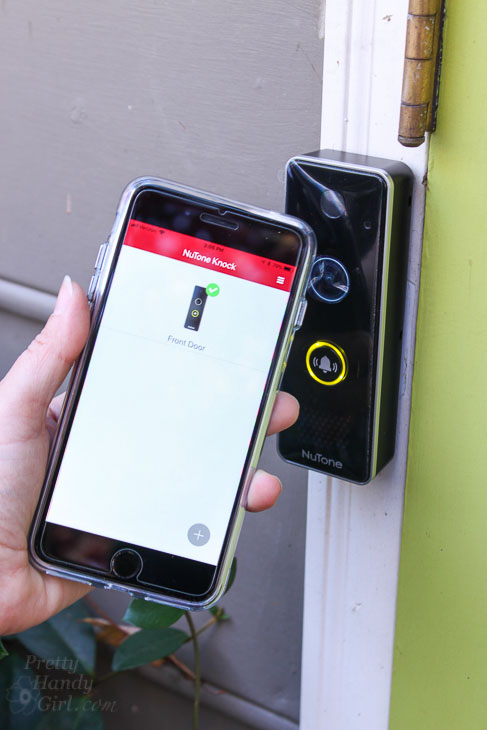 smart video doorbell camera NuTone app display