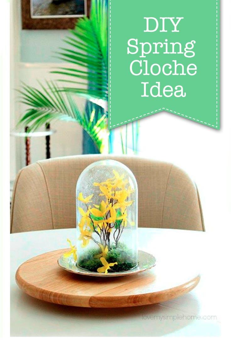 How to Make Spring Cloche Centerpiece