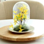 DIY Spring Decor Cloche table centerpiece