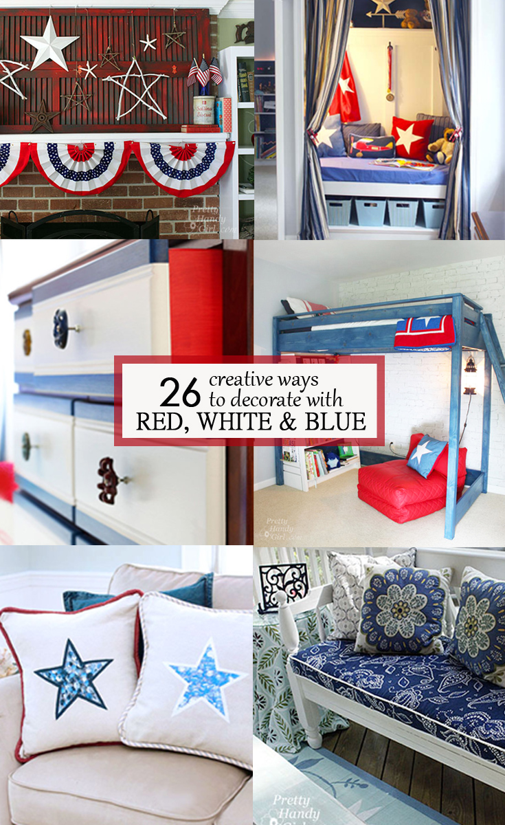check out these 26 creative ways to decorate with red white and blue for some