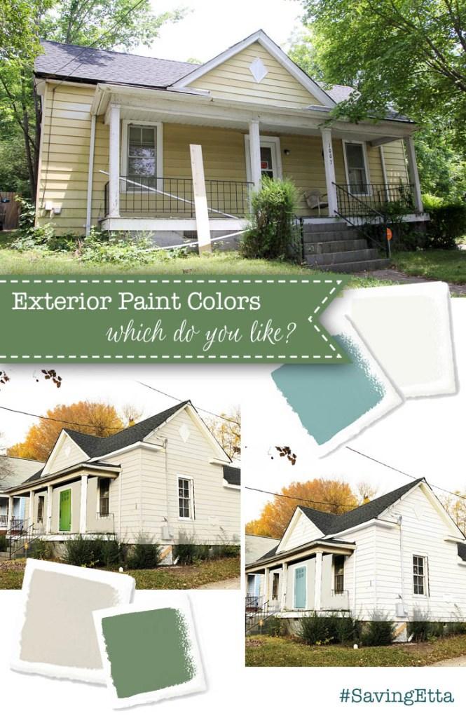 Saving Etta exterior color decisions
