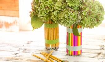 DIY Back to School Pencil Vase