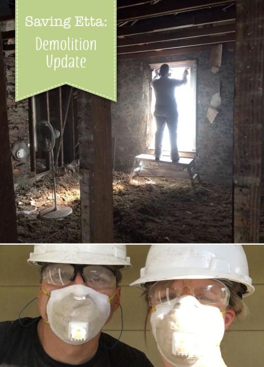 Saving Etta Demolition update