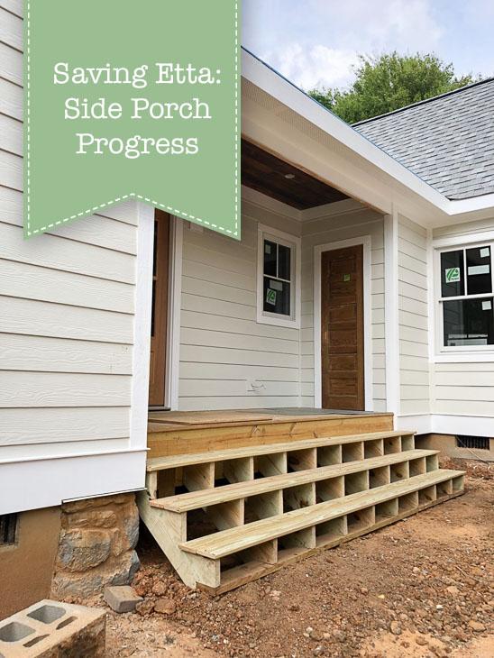 Saving Etta: Side Porch Progress