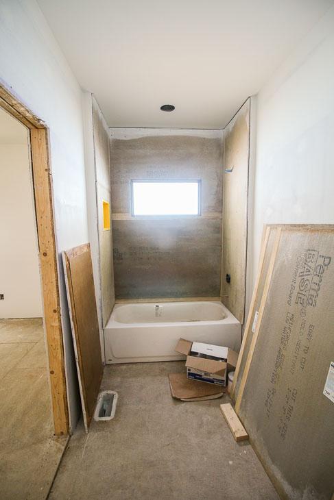 downstairs bathroom pre-tile