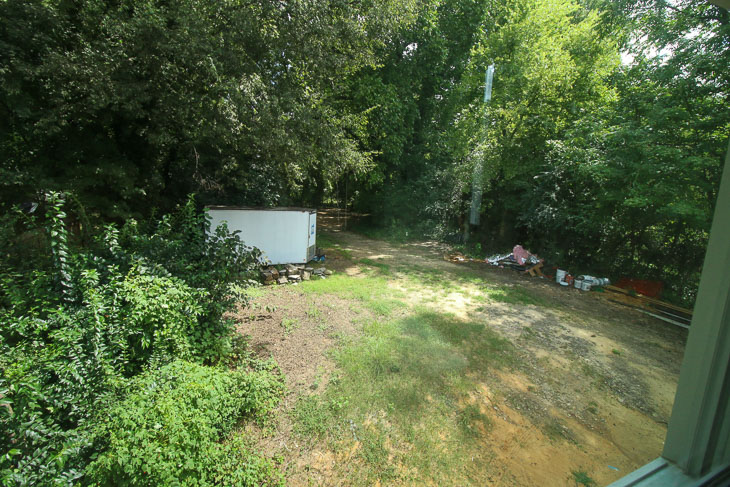 view from upstairs window before landscaping