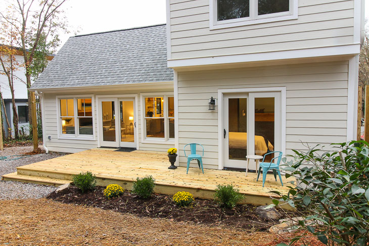 back deck transformation and landscaping