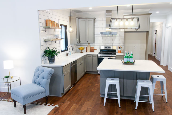 Modern Farmhouse Kitchen in a 1900 historic house