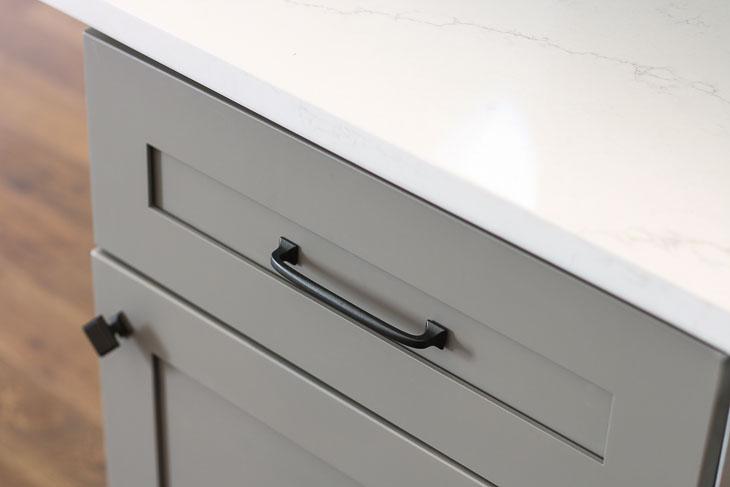 liberty lombard kitchen cabinet pulls and carrara quartz countertops