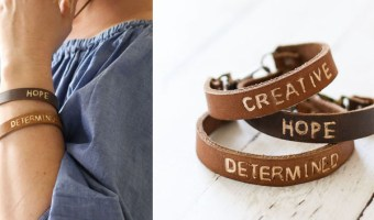 diy stamped leather bracelets