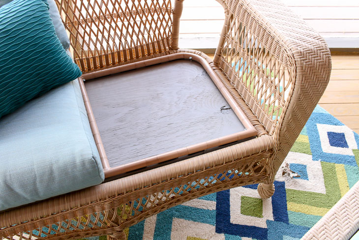 Fix for sagging cushion. Plywood under cushions