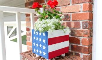 DIY American Flag Planter Box