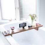 diy wooden bath tray