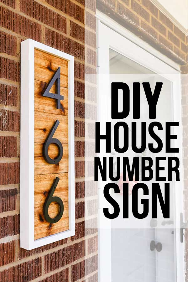 Diy Modern House Number Sign Pretty Handy Girl