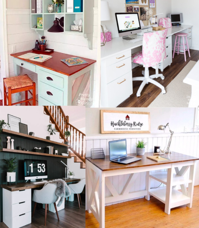Large DIY Desks for craft rooms or home office