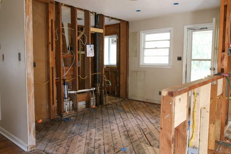 kitchen framing and subfloor repairs