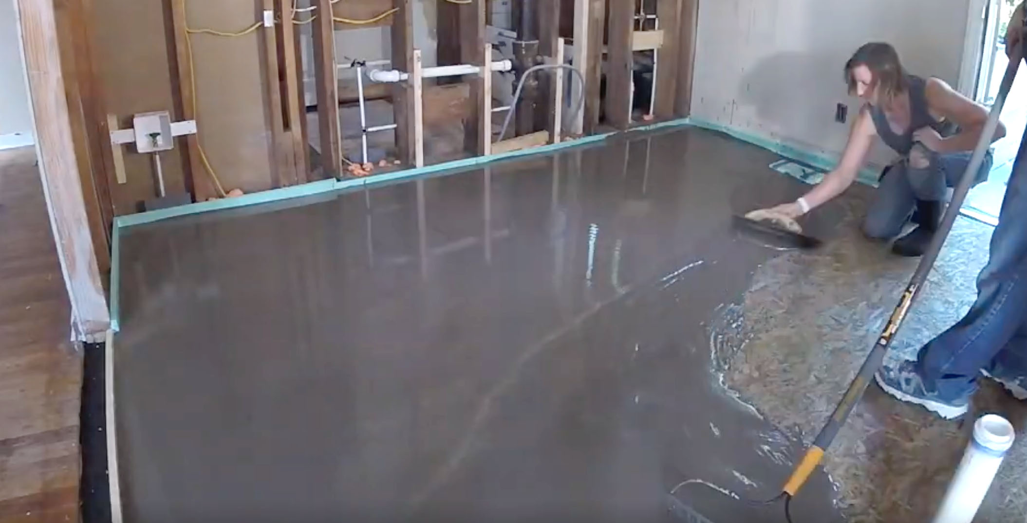 Tips Tricks To Self Level A Floor At Millie S Remodel Pretty