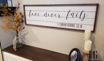 DIY Sign with Faux Shiplap detail