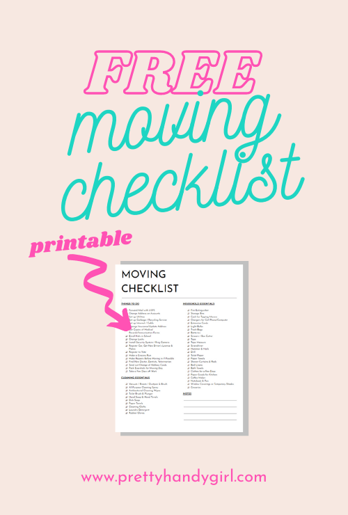 Free printable moving checklist - the only checklist you'll need for a successful move