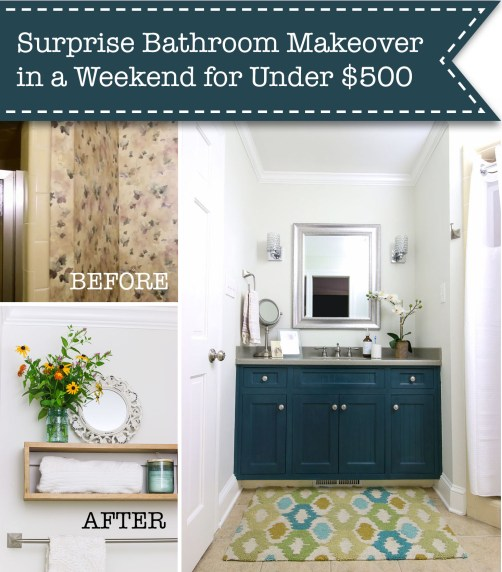 Surprise bathroom makeover under $ 500