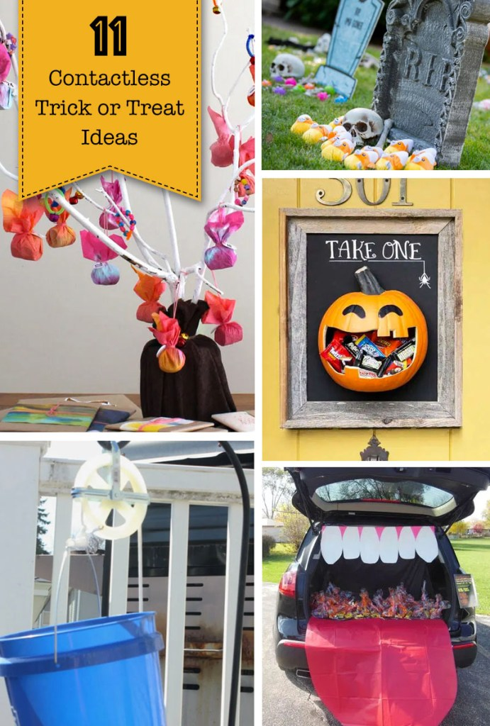11 Contactless Halloween Trick or Treat Ideas