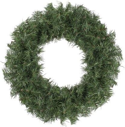cheap fake pine wreath