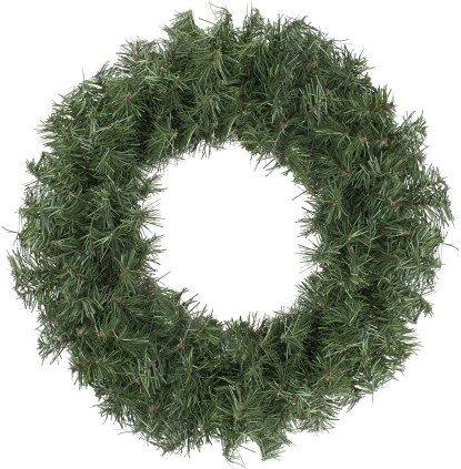 cheap fake pine wreath