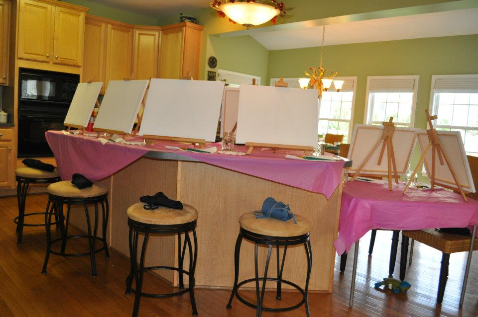 Art Party At Home Art Parties Pretty In Paint Parties